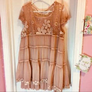 Rose Gold Simply Couture Lace & Sequin Dress